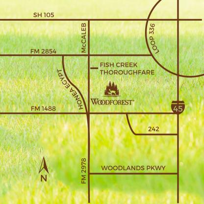 Location Map Woodforest In Montgomery County Tx
