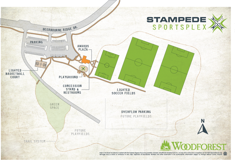 Map of Stampede Sportsplex at Woodforest