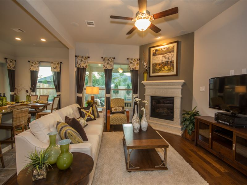 Model home images of family room