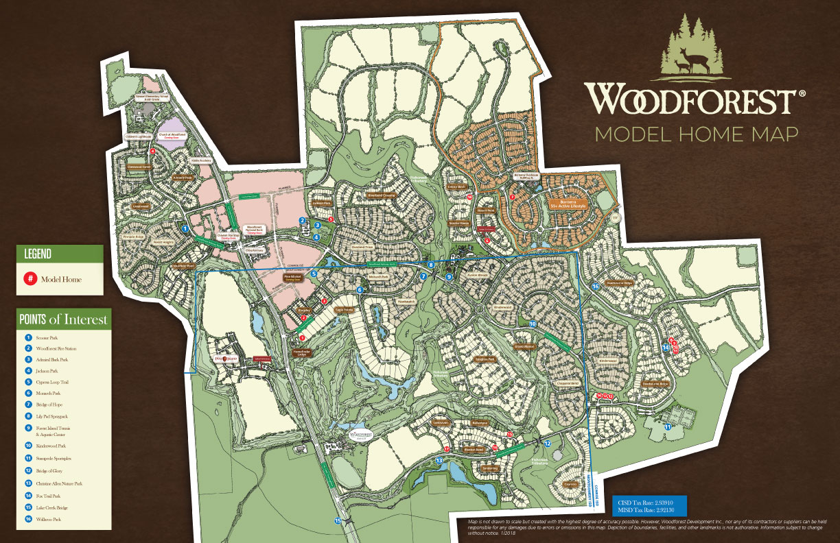 New Home Builders In Montgomery County Woodforest